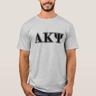 Alpha Kappa Psi Black Letters T-Shirt