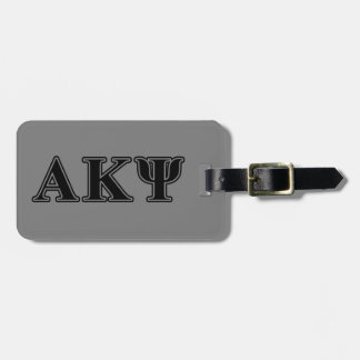 Alpha Kappa Psi Black Letters Tag For Bags