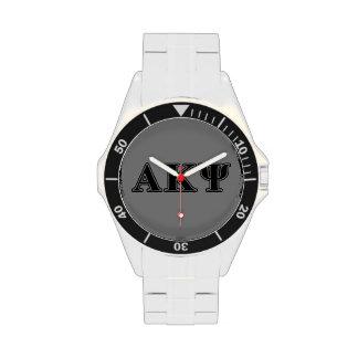 Alpha Kappa Psi Black Letters Wristwatch