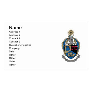 Alpha Kappa Psi - Coat of Arms Business Cards
