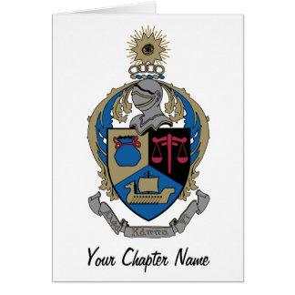 Alpha Kappa Psi - Coat of Arms Greeting Card