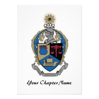 Alpha Kappa Psi - Coat of Arms Invitations