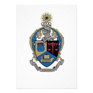 Alpha Kappa Psi - Coat of Arms Invites