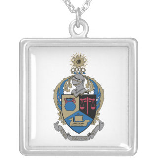 Alpha Kappa Psi - Coat of Arms Personalized Necklace