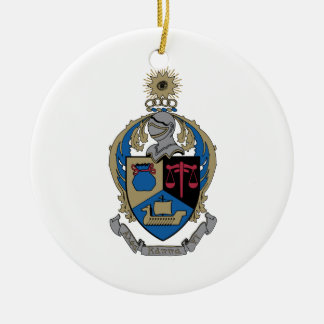 Alpha Kappa Psi - Coat of Arms Double-Sided Ceramic Round Christmas Ornament
