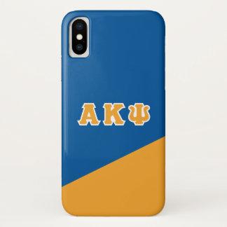 Alpha Kappa Psi   Greek Letters iPhone X Case