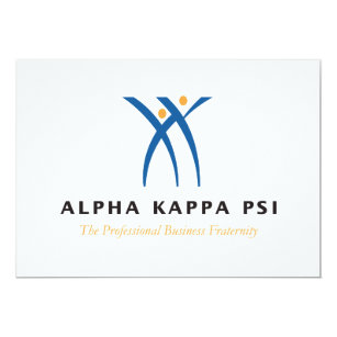 Alpha kappa alpha invitations announcements zazzle alpha kappa psi name and logo card colourmoves Gallery