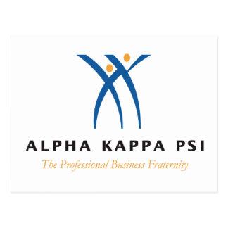 Alpha Ka Psi Name And Logo Postcard