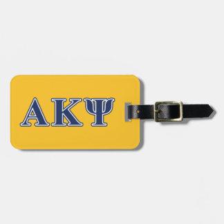 Alpha Kappa Psi Navy Letters Bag Tags