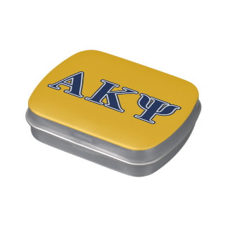Alpha Kappa Psi Navy Letters Candy Tins
