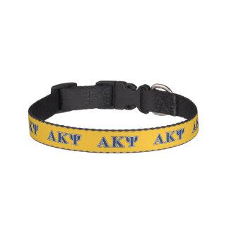 Alpha Kappa Psi Navy Letters Dog Collars
