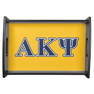 Alpha Kappa Psi Navy Letters Food Trays