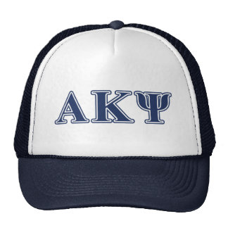 Alpha Kappa Psi Navy Letters Hat