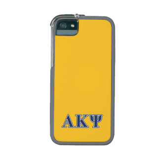 Alpha Kappa Psi Navy Letters iPhone 5/5S Covers