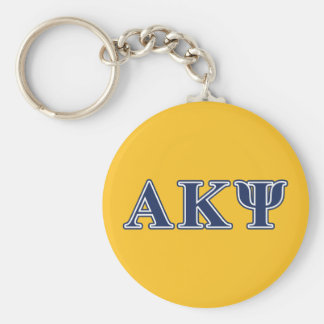 Alpha Kappa Psi Navy Letters Keychains