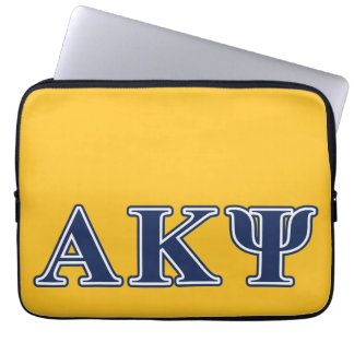 Alpha Kappa Psi Navy Letters Laptop Computer Sleeves