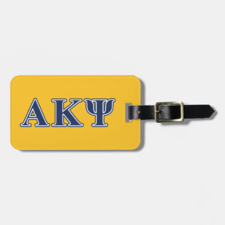 Alpha Kappa Psi Navy Letters Luggage Tag
