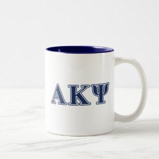 Alpha Kappa Psi Navy Letters Mug