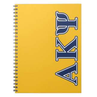 Alpha Kappa Psi Navy Letters Note Book