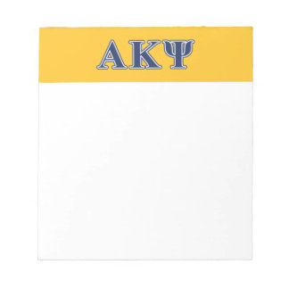Alpha Kappa Psi Navy Letters Note Pad