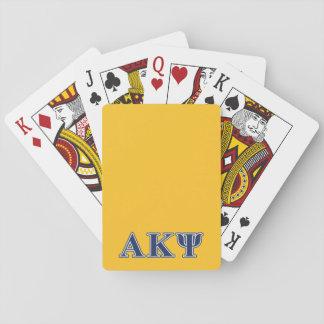 Alpha Kappa Psi Navy Letters Poker Cards