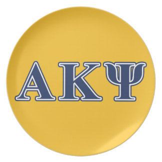 Alpha Kappa Psi Navy Letters Party Plates