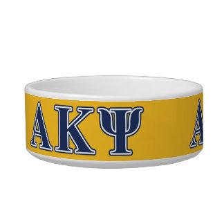 Alpha Kappa Psi Navy Letters Pet Bowl