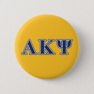 Alpha Kappa Psi Navy Letters Pinback Button