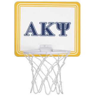 Alpha Kappa Psi Navy Letters Mini Basketball Backboard