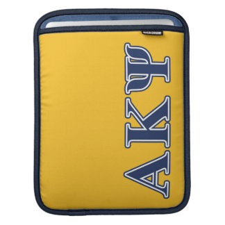 Alpha Kappa Psi Navy Letters Sleeve For iPads