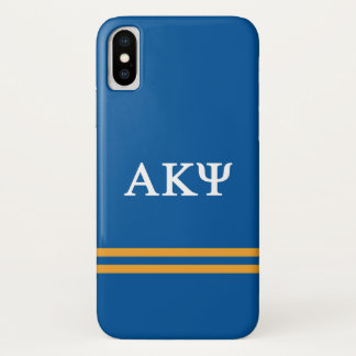 Alpha Kappa Psi   Sport Stripe iPhone X Case