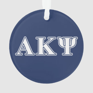 Alpha Kappa Psi White and Navy Letters