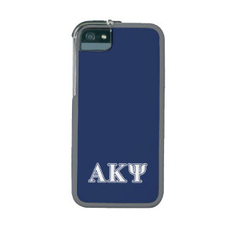 Alpha Kappa Psi White and Navy Letters iPhone 5/5S Covers