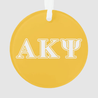 Alpha Kappa Psi White and Yellow Letters