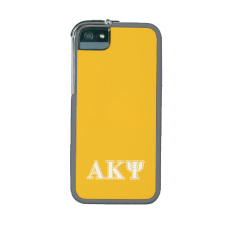 Alpha Kappa Psi White and Yellow Letters Cover For iPhone 5