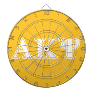 Alpha Kappa Psi White and Yellow Letters Dart Boards