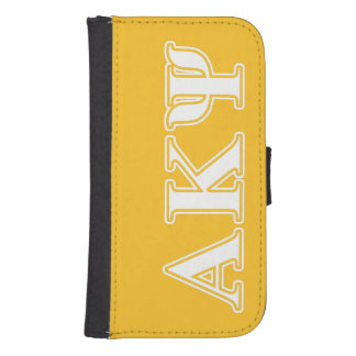 Alpha Kappa Psi White and Yellow Letters Phone Wallet Cases
