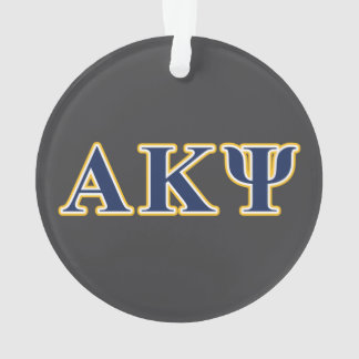 Alpha Kappa Psi Yellow and Navy Letters