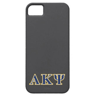 Alpha Kappa Psi Yellow and Navy Letters iPhone 5 Case