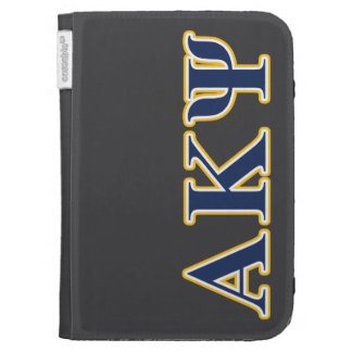 Alpha Kappa Psi Yellow and Navy Letters Kindle Cases