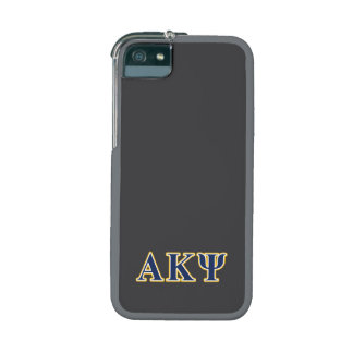 Alpha Kappa Psi Yellow and Navy Letters Cover For iPhone 5/5S