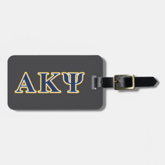 Alpha Kappa Psi Yellow and Navy Letters Tags For Bags