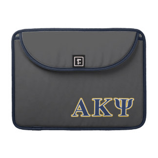Alpha Kappa Psi Yellow and Navy Letters MacBook Pro Sleeves