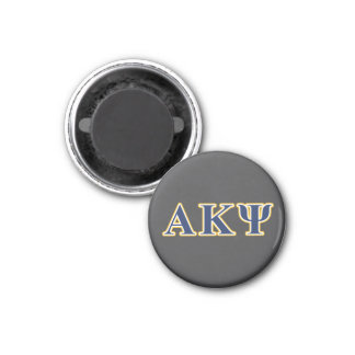 Alpha Kappa Psi Yellow and Navy Letters Magnet