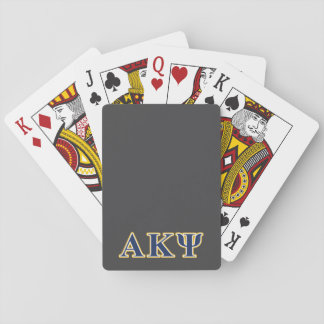 Alpha Kappa Psi Yellow and Navy Letters Deck Of Cards