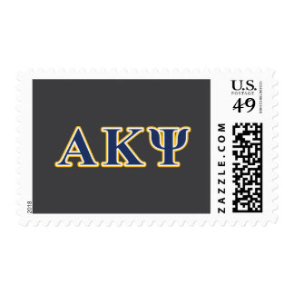 Alpha Kappa Psi Yellow and Navy Letters Postage