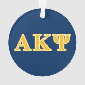 Alpha Kappa Psi Yellow Letters