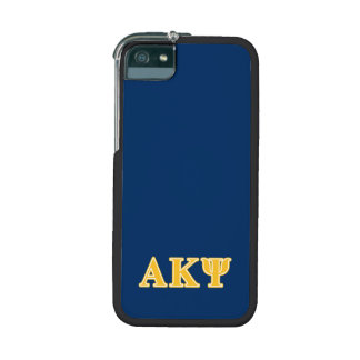 Alpha Kappa Psi Yellow Letters Cover For iPhone 5
