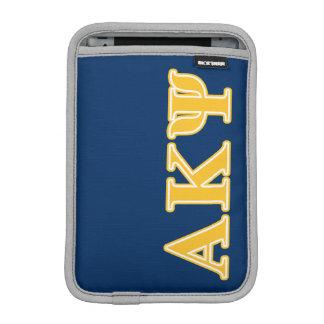 Alpha Kappa Psi Yellow Letters iPad Mini Sleeve