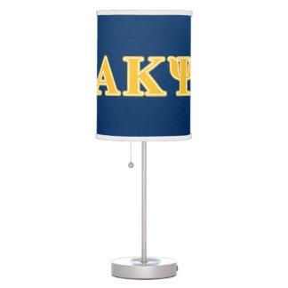 Alpha Kappa Psi Yellow Letters Desk Lamps